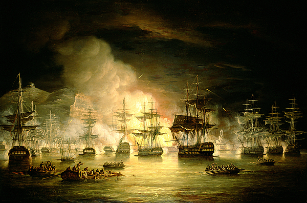 August 1816 Painting - Bombardment Of Algiers by Thomas Luny