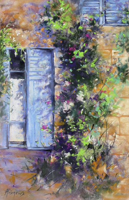 Landscape Painting - Bonjour by Rae Andrews