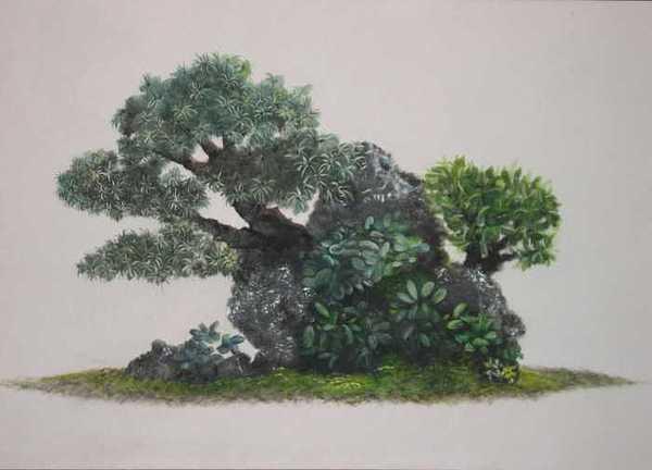Bonzai Painting by Joanie Arvin
