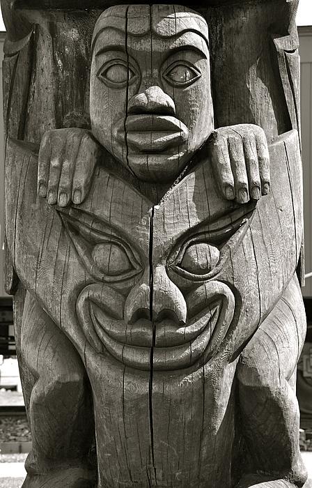 Totem Pole Photograph - Boo by Hillary  MacDonald