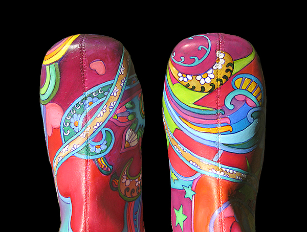 Boogie Shoes Painting - Boogie Shoes 2 by Mary Johnson