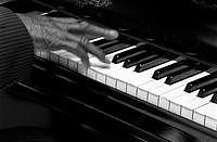 Black And White Photograph - Boogie Woogie Hands 4 by Javet Kimble