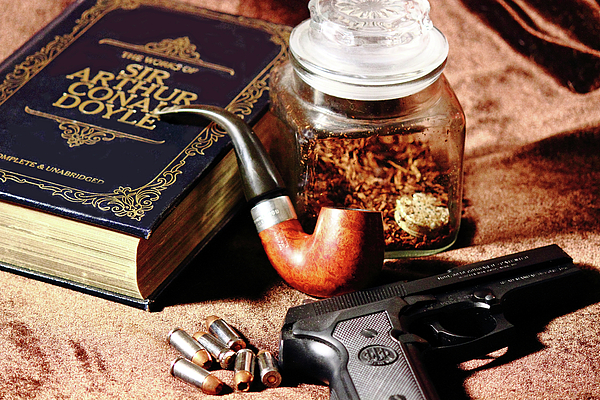 Beretta Photograph - Books And Bullets by Barry Jones