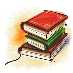 Books Drawing by Muhammed Naseer T