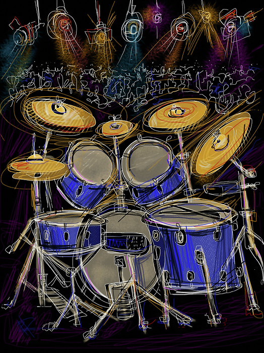 Drums Digital Art - Boom Crash by Russell Pierce