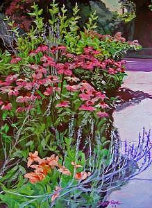 Border Garden Painting - Border Garden Sold by Jayne Rose