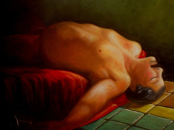 Nude Painting - Borracho by Besaleel