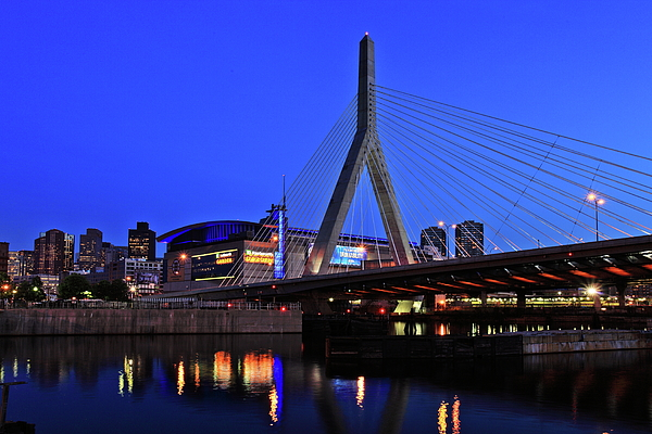 Boston Photograph - Boston Garden And Zakim Bridge by Rick Berk