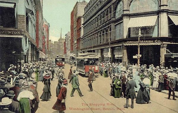 1910 Photograph - Boston: Washington Street by Granger