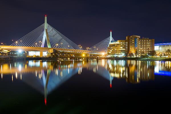 Boston Photograph - Boston Zakim Bridge Reflections by Shane Psaltis