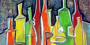 Bottles Painting - Bottles by Janice Webb