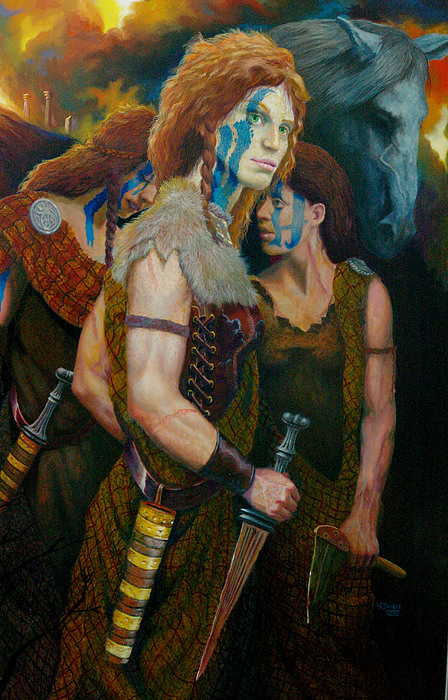 Boudica Painting by RC Bailey