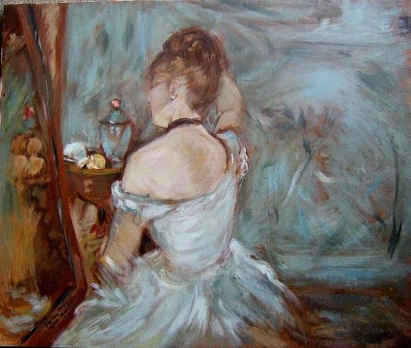 Lady Painting - Boudoir  by Darlene LeVasseur