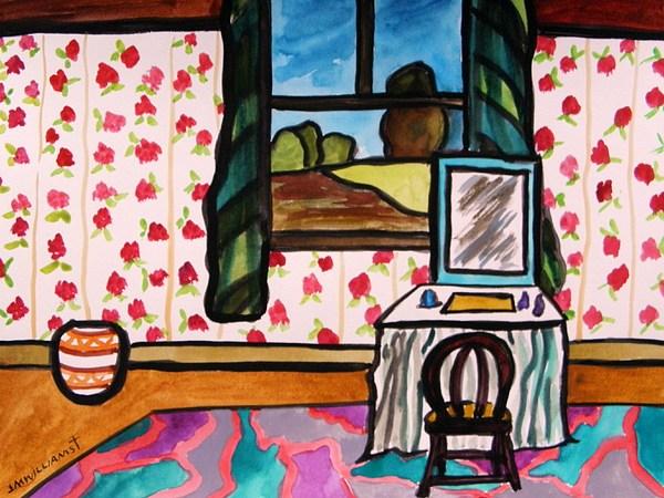 Window Painting - Boudoir by John Williams