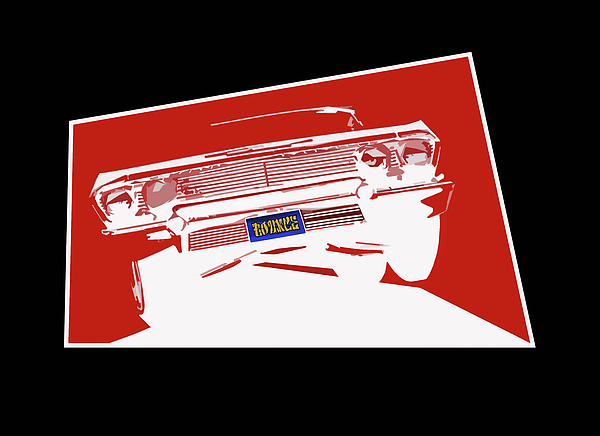 Lowrider Painting - Bounce. 63 Impala Lowrider. by MOTORVATE STUDIO Colin Tresadern