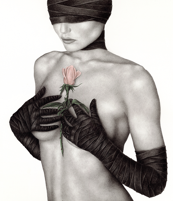 Woman Painting - Bound By The Past by Pat Erickson