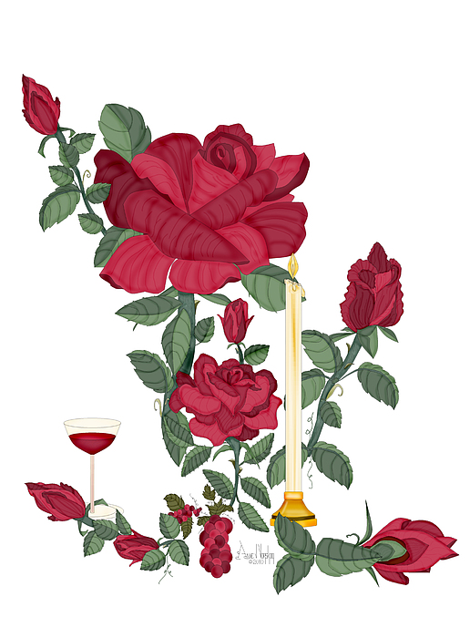 Red Roses Painting - Bouquet Of Life by Anne Norskog
