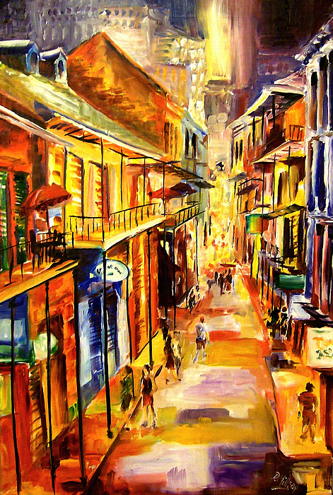 New Orleans Painting - Bourbon Street Glitter by Diane Millsap