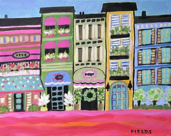Architecture Painting - Boutique Avenue Way by Karen Fields