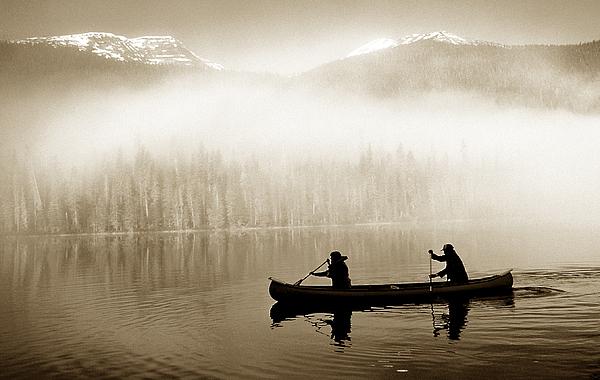 Canoe Photograph - Bowron Lks. Canoe by John  Bartosik