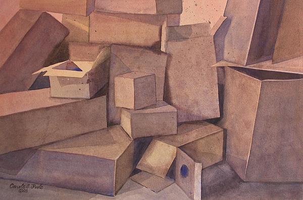 Box Behavior Painting by Carole Poole