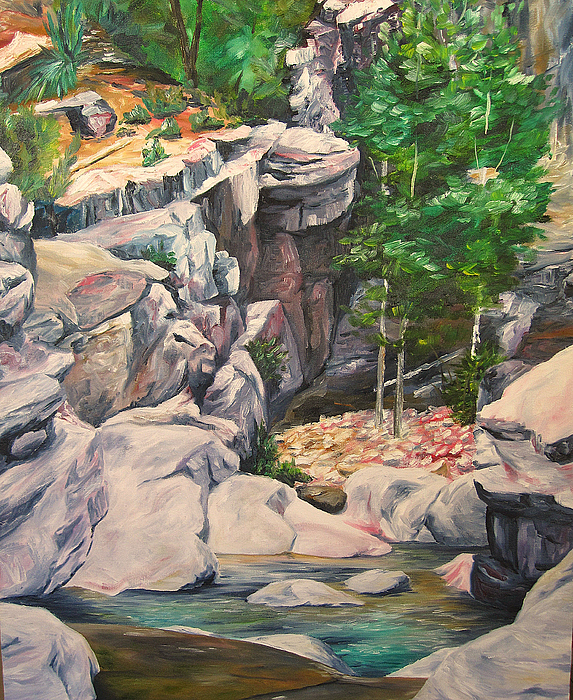 Canyon Painting - Box Canyon by Theresa Higby
