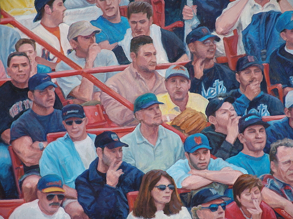 People At Sporting Events Painting - Box Seats Detail by James Sparks