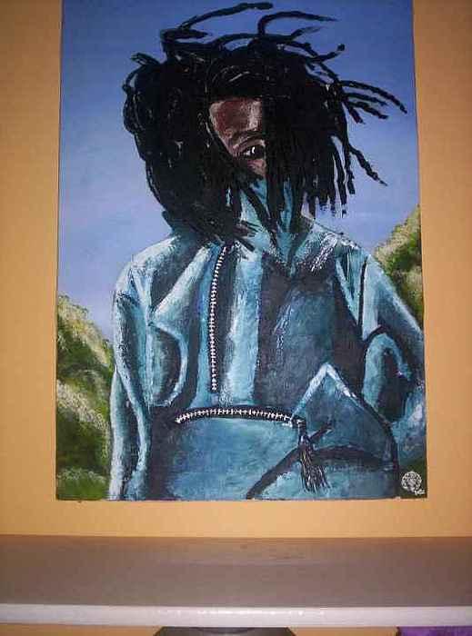 Portrait Painting - Boy 1 by Yaqub Tate