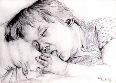 Boy Drawing - Boy Sleeps by Diana Ludwig