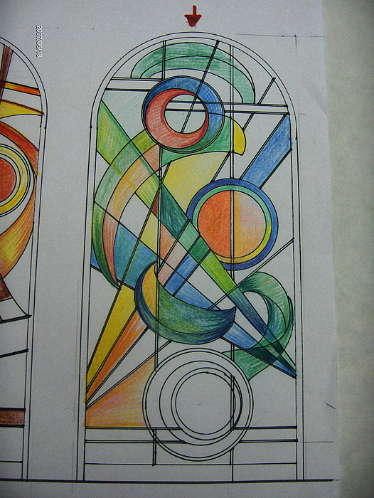Paintings Glass Art - Bozzetto Di Vetrata. Come Nasce Un Capolavoro Artigianale by Morena Di Pressa