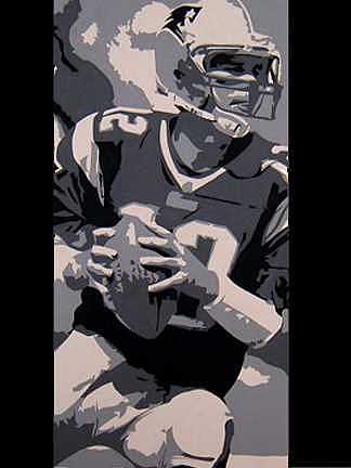 Football Painting - Brady Commissioned Portrait by Michael James  Toomy