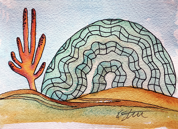 Brain Coral Painting - Brain Coral by Kathy Sturr