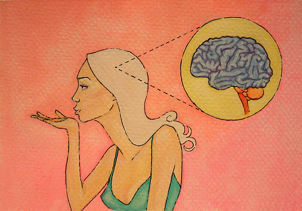 Cartoon Painting - Brains And Beauty by Ramey Guerra