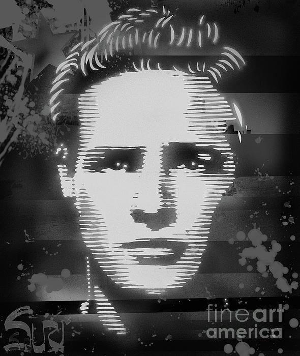 Brando Mixed Media - Brando Odyssey Black And White by Surj LA