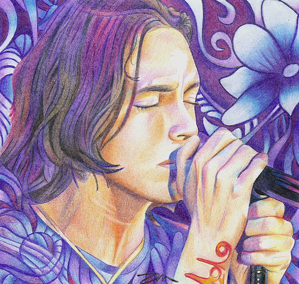 Brandon Boyd Drawing - Brandon Boyd by Joshua Morton