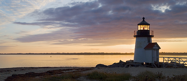 Nantucket Photograph - Brant Point Dawn - Nantucket by Henry Krauzyk