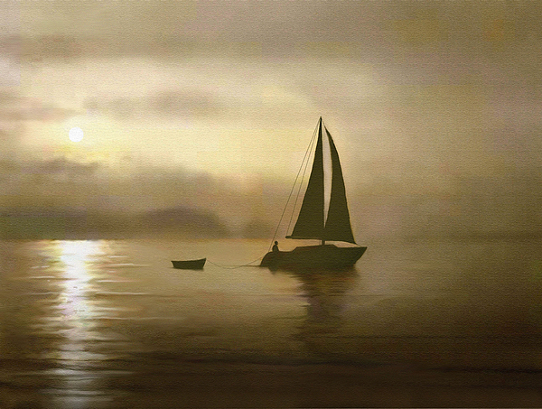 Sailing Painting - Brass Sail by Robert Foster