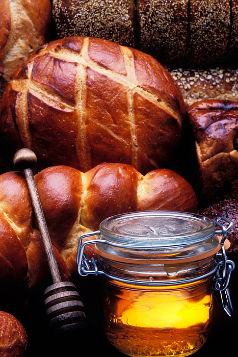 Bread Photograph - Bread And Honey by Garry Gay
