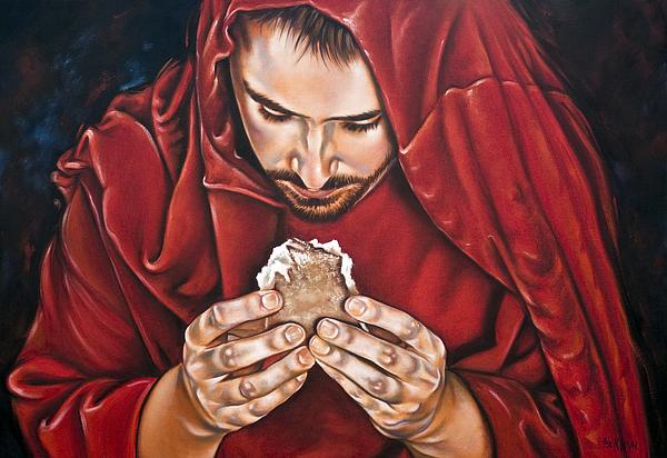 Jesus Christ Painting - Bread Of Live by Ilse Kleyn