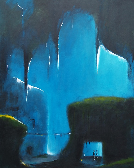 Abstract Painting - Break Out No. One by Peter Bak Frederiksen