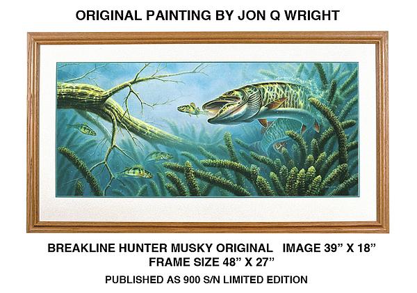 Jon Q Wright Painting - Breakline Hunter Musky by Jon Q Wright