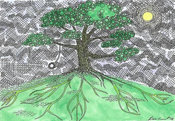 Tree Painting - Breeze by Melanie Rochat