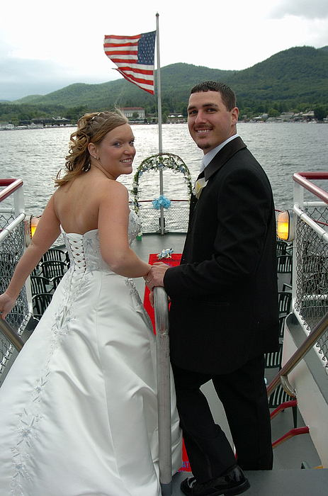 Lake George Photograph - Bride Groom On Lake George by Mary Curtis