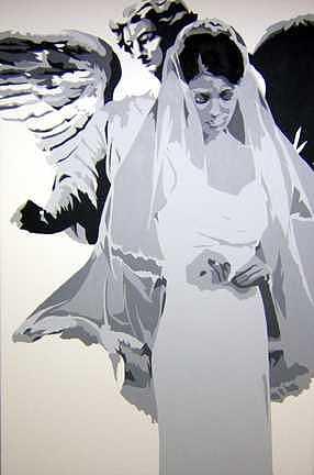 Bride Painting - Bride by Michael James  Toomy