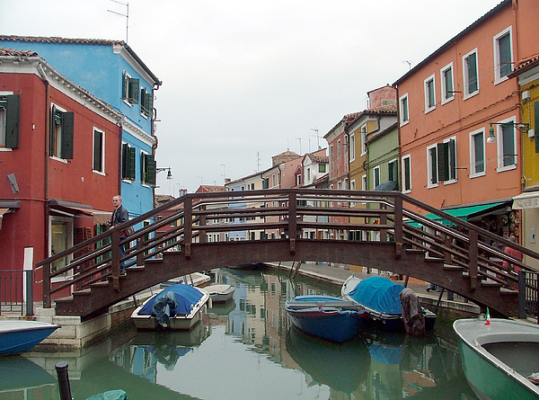 Burano Photograph - Bridge In Burano Italy by Mindy Newman