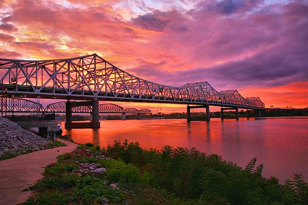 Bridge Photograph - Bridges At Sunrise II by Steven Ainsworth
