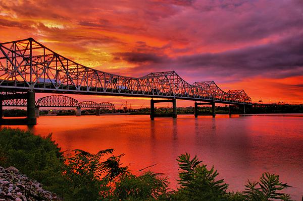 River Photograph - Bridges At Sunrise by Steven Ainsworth