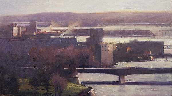 Ottawa Painting - Bridges Evening by Chris Flodberg