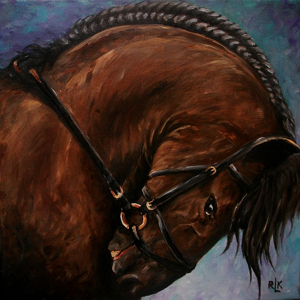 Painting Painting - Bridle And Braids by Richard Klingbeil