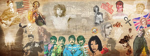 Jim Morrison Photograph - Brief History Of Rocknroll by Stephen Walker